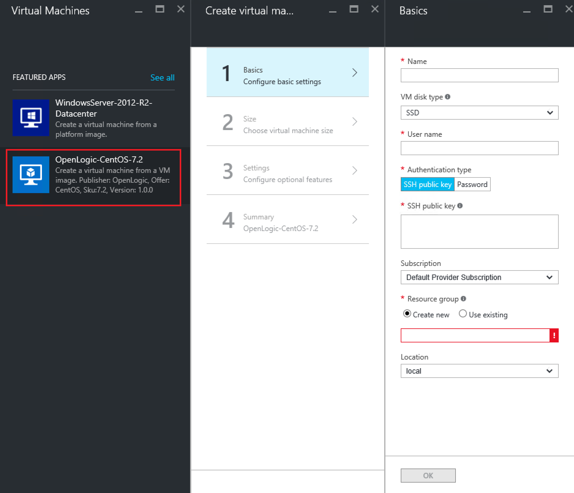 Adding and using CentOS 7 2 (or any other image) to Azure