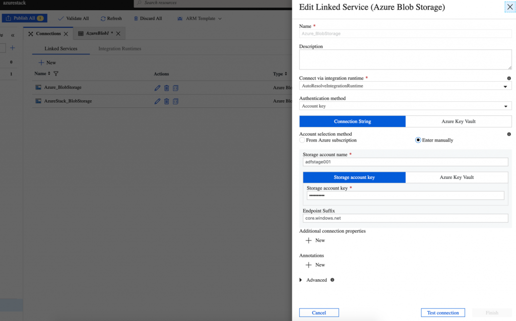 Azure Data Factory and Azure Stack blob storage copy | Azure